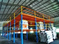 Heavy Duty Two Levels Industrial Mezzanine Systems For Logistics Center , 1000kg