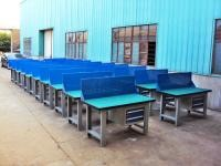 Custom Steel Construction Industrial Work Benches With Hardwood Fireproofing