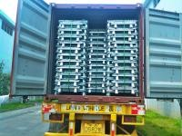 Folding Stackable Transit Equipment Steel Pallet Cages With U Shaped