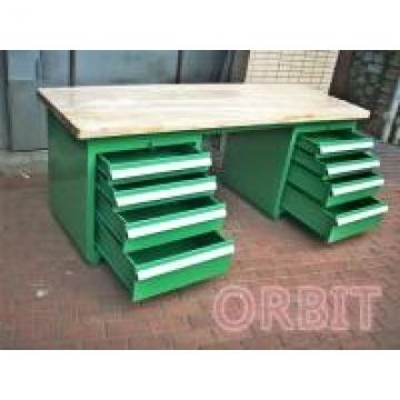Heavy Duty Industrial Workbenches With Wood / Composite Board Bench Top