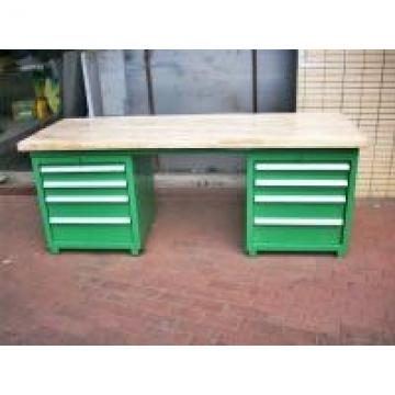 500 - 2000kg Wood Bench Top Industrial Workbenches With Tool Cabinets
