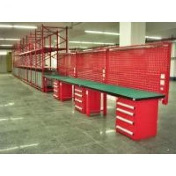 Workshop Industrial Workbenches With Square Hole Louvered Panels