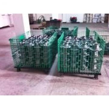 Powder Coated Wire Mesh Pallet Cage For Logistics / Distribution Center