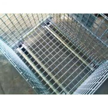 Hot Dipped Galvanized Foldable Stacking Wire Mesh Boxes For Transport