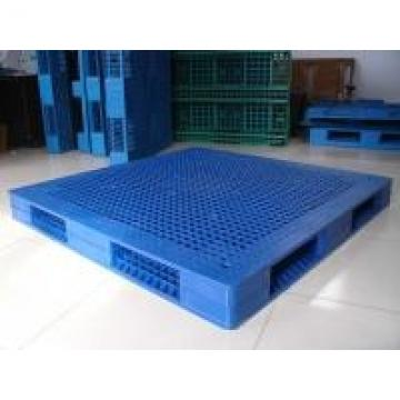 Single Side Export Plastic Pallets With Steel Tubes Inside , 1000×1000×150
