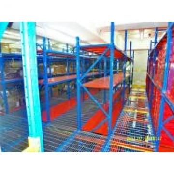 Utilizing Industrial Rack Supported Mezzanine With Powder Coat Paint Finish