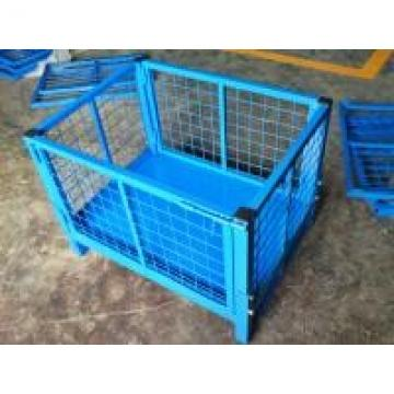 Galvanized / Powder Coating Metal Pallet Cages For Small Parts Storage
