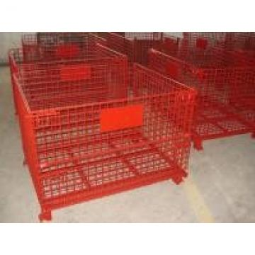 High Strength Industrial Metal Pallet Cages Warehousing / Component Storage